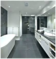 dark grey floor tiles bathroom and white with grout tile