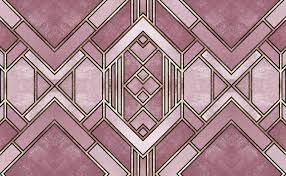 Art Deco Diamond Pattern Wallpaper for ...