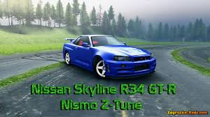 Nissan R34 NISMO Skyline GT-R Z-Tune v1.0 for Spin Tires 2014 ...