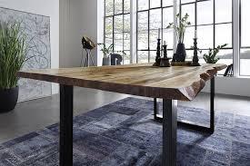 Esszimmertisch Designer Möbel Sam Echte Baumkante Massiver