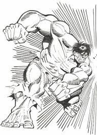 Kleurplaat Hulk 7