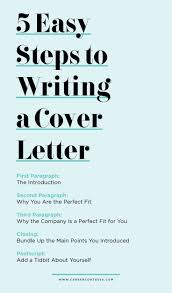 Steps To Writing A Cover Letter For Resume 5 Easy Steps To Writing A Cover Letter Advice For College Students