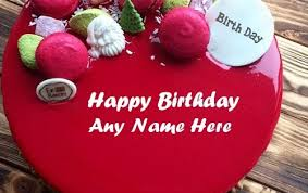 Seeing the above photo, you would immediately remember the model who comes frequently in the tamil ads; Write Name On Amazing Red Velvet Cake And Wish Birthday To Your Friends And Family In A U Happy Birthday Cake Images Birthday Cake Writing Happy Birthday Cakes