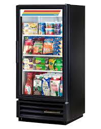 true gdm 10 ld black refrigerated glass door merchandiser