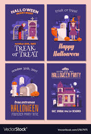 Halloween Invitations Cards Halloween Invitations And Flyers Set