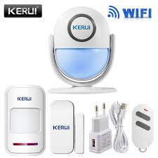 kerui wifi home security alarm system diy kit ios android smartphone app 120db pir main