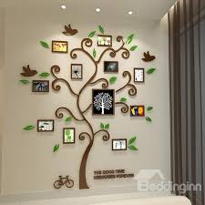 55 11 photo frame tree country style acrylic waterproof self adhesive 3d wall stickers