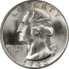 1945 25c Ms Washington Quarters Ngc
