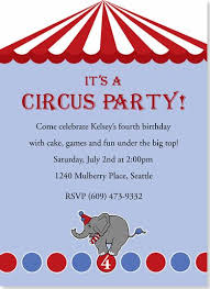 Circus Party Invitation Interesting Circus Party Invitations Weareatlove