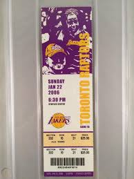 2006 LA Lakers Kobe Bryant Vs. Raptors 81 Point Game PSA Graded 8 Full  Ticket