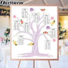 Wedding Guest List Seating Chart Us 8 99 30 Off Ourwarm Wedding Seating Chart Diy Table Plan Ideas Love Tree Table Numbers Card Guest List Wedding Arrangement Party Supplies In
