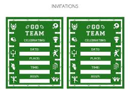 Free Football Party Printables Football Parties Party Party
