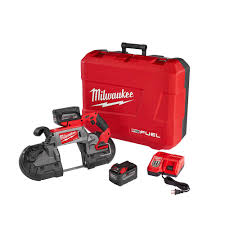 milwaukee portable band saw. milwaukee m18 fuel 18-volt lithium-ion brushless cordless deep cut band saw high demand 9.0ah kit-2729-22hd - the home depot portable b