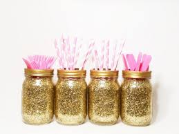 Decorating Mason Jars For Baby Shower Mason Jar Centerpieces Gold Wedding Decor Baby Shower 37