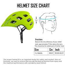 Bike Helmet Size Chart Exclusky Bgo Mountain Bike Helmet Lightweight Breathable