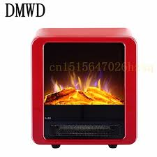 dmwd electric fireplace home office bathroom vertical heater simulate fireplace overheat protection red