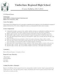 Free Course Syllabus Template For Word Curriculum Vitae