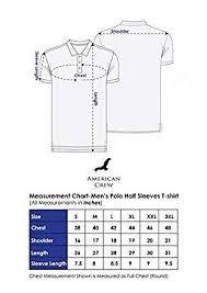 American Shirt Size Chart American Crew Mens Cotton Polo T Shirt
