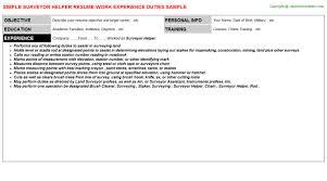 Surveyor Helper Resume Resumes Templates