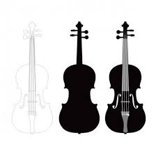 バイオリン シルエット イラスト フリー素材配布サイトシルエット