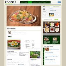 Food Recipe Template Restaurant Food Recipe Cookbook Free Website Template