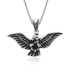 silver eagle men s necklaces ij1 1818 ic jewelry