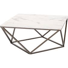 Zuo Modern Coffee Table Zuo Modern 100657 Tintern Coffee Table In Faux Marble On Geometric