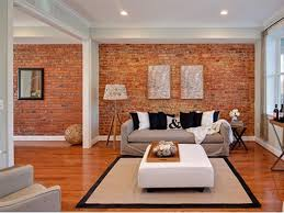 Small Picture Red Brick Wall Design For Modern House Interior Fireplaces