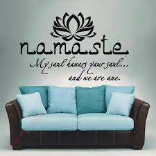 Wall Decals Quotes Vinyl Sticker Decal Buddha Quote Namaste Yoga Inspiration Wall Decals Quotes