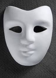 Plain White Masks To Decorate Blank Masks Paper Full Face Party Pinterest Blank mask 10