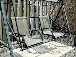 outdoor furniture swing chair. The Creative Me And My McG: Upcycling Patio Chairs To A Garden Swing Seat Outdoor Furniture Chair G