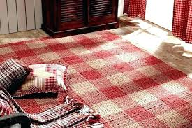 red plaid rug area rugs rustic country farmhouse encourage for rag