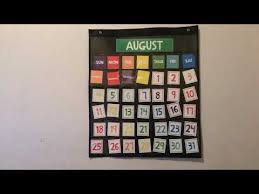 Target Pocket Chart And Calendar Cards