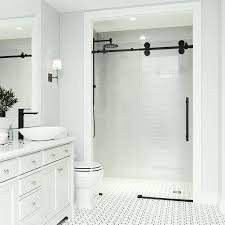 sliding frameless shower doors elan x adjule single sliding shower door with frameless sliding shower doors