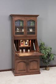 Amish Executive Deluxe Secretary Desk with Hutch Top