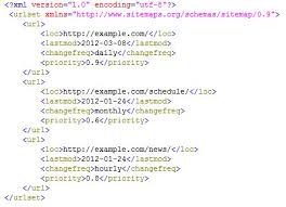an xml sitemap will look something like this