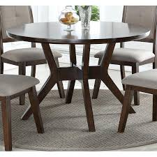 dining tables 48 inch round dining table with leaf espresso barney furniture room