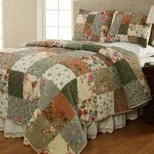 Decorative wallpaper for bedroom, patchwork quilt bedding sets ... & Patchwork Quilt Bedding Sets Butterflies Floral Quilt Set Adamdwight.com