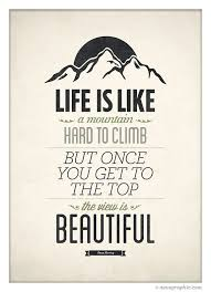 Inspirational Quote Poster Life Is Like A Mountain By Neuegraphic