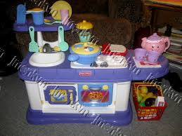 A Fisher Price U0027grow With Meu0027 Kitchen. It Was 75 Bucks. We Got That, The  Food Set, And The Pink Teapot, (and A Few Books). SHE LOVES It!