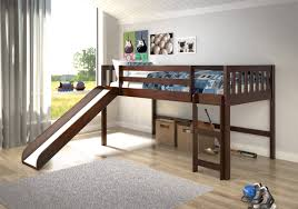 wood twin loft bed frame