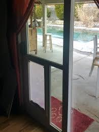slider pet door large hale installed in glass doors sydney
