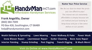 handyman business best handyman in southington meriden cheshire wolcott bristol ct