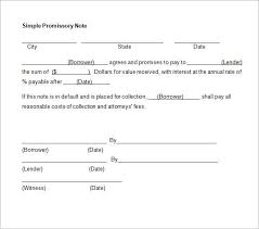 Basic Promissory Note Custom Simple Promissory Note No Interest Template Pinterest