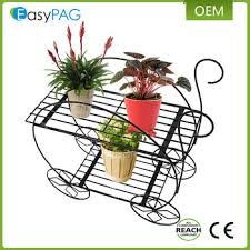Flower Display Stand For Sale Hot Sale Outdoor Wall Corner Iron Metal Wire Flower Display Stand 44
