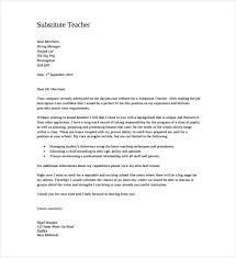 Cover Letter Substitute Teacher Cover Letter Template For Teachers Resume Examples