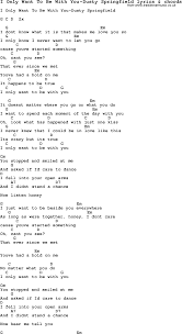 Love Song Lyrics for:I Only Want To Be With You-Dusty Springfield with  chords.