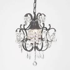 laurel creek harper 1 light black crystal mini chandelier free in crystal mini