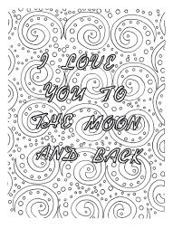 Small Picture easy coloring page romantic gift i love you art love zentangle