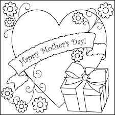 Small Picture Mothers day coloring pages heart and gift ColoringStar